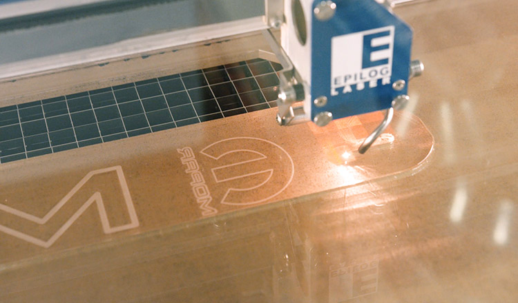 Laser cutting an acrylic prototype