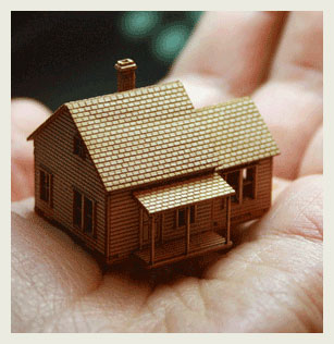 Small house laser cut model.